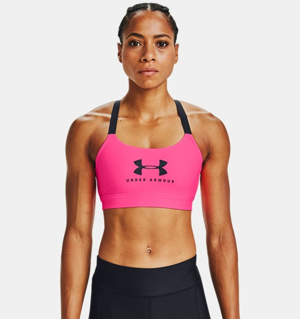Womens UA Armour Mid Sportstyle Graphic Sports Bra