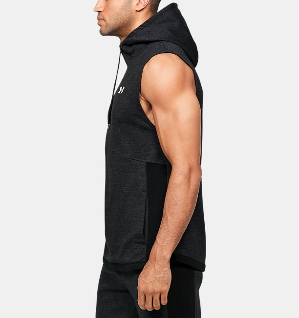 Mens UA Double Knit Sleeveless Hoodie