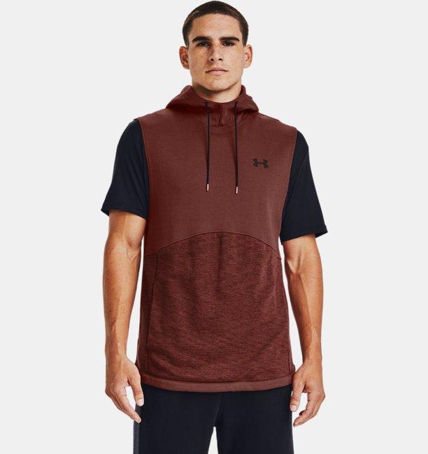 Mens UA Double Knit Sleeveless Hoodie