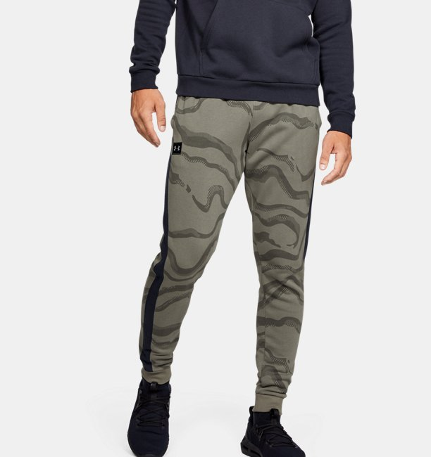 Mens UA Rival Fleece Printed Pants