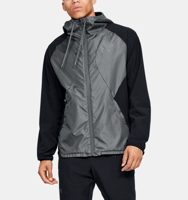 Mens UA Stretch Woven Full Zip Jacket