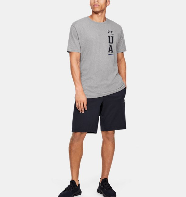 Camiseta de Treino Masculina Under Armour Vertical Left Chest