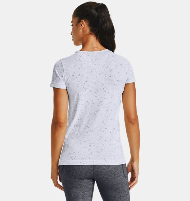 Womens UA Seamless Melange Short Sleeve