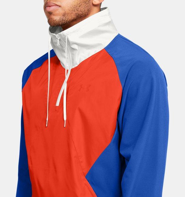 Mens UA Stretch Woven ½ Zip Jacket