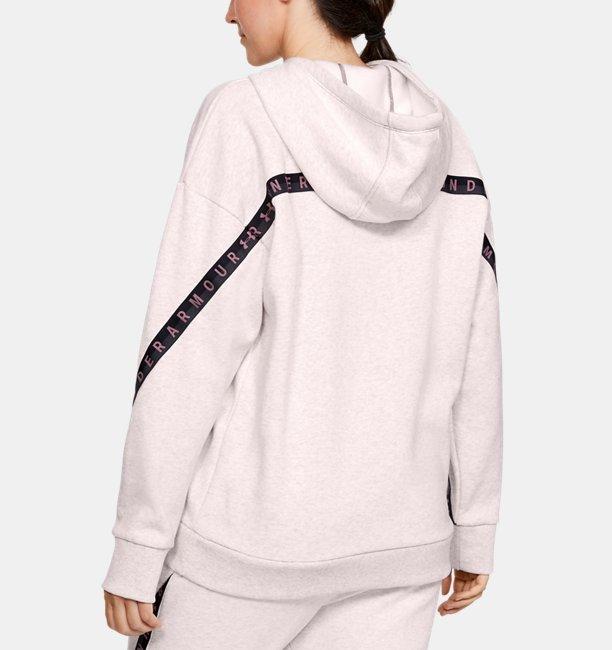 Womens UA Fleece Taped Wordmark Hoodie