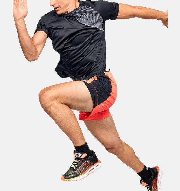 Mens UA Qualifier Iso-Chill Run Short Sleeve