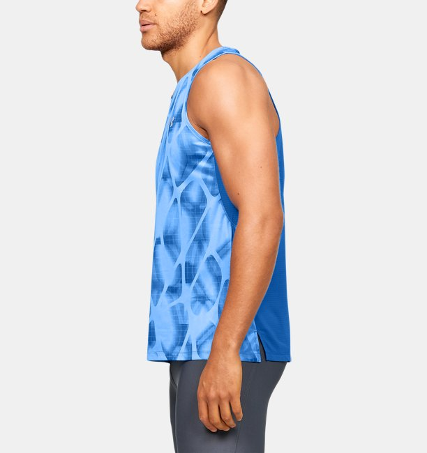 Mens UA Qualifier Iso-Chill Printed Singlet