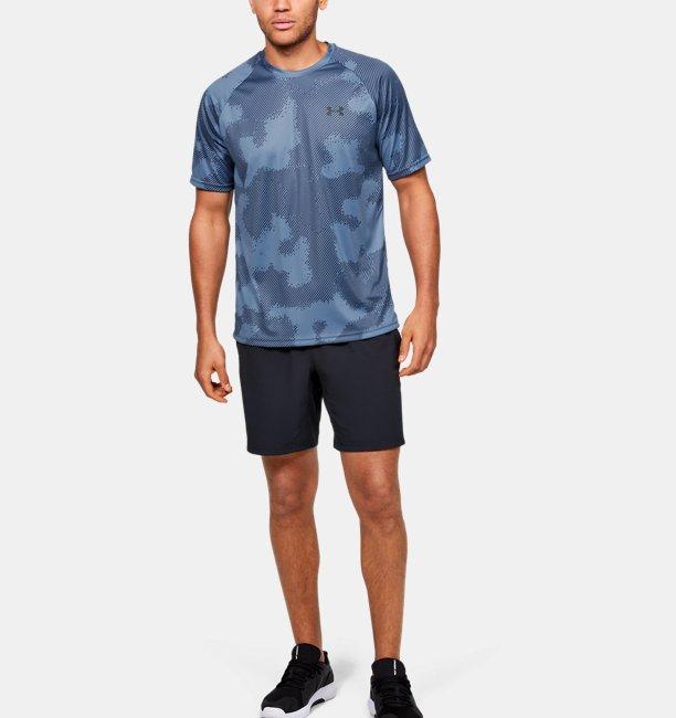 Mens UA Velocity Printed Short Sleeve