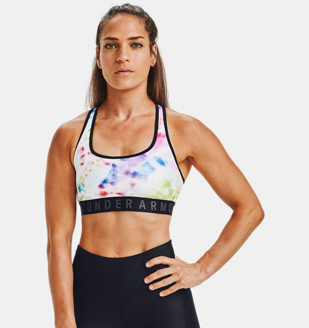 Womens UA Pride Armour Mid Crossback Sports Bra