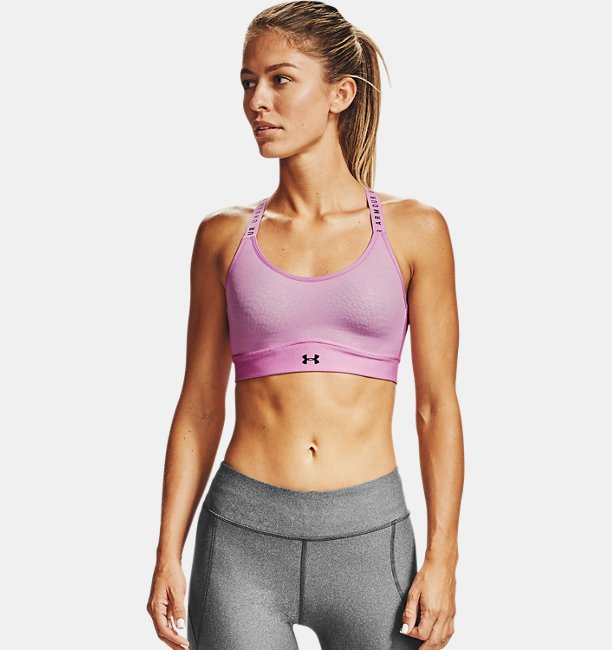 Womens UA Infinity Mid Heather Sports Bra