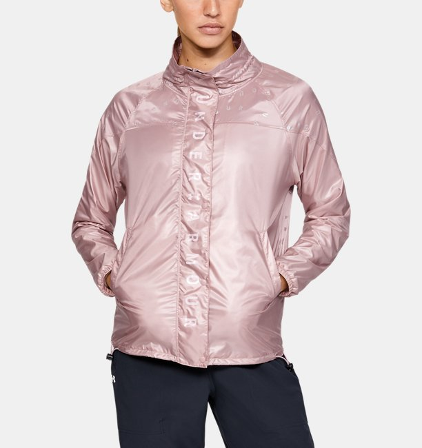 Womens UA Recover Woven Iridescent Full Zip