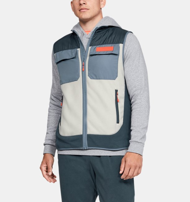 Mens UA Trek Polar Fleece Gilet