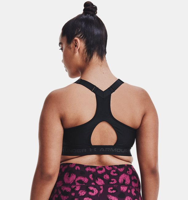 Womens Armour® High Crossback Zip Sports Bra