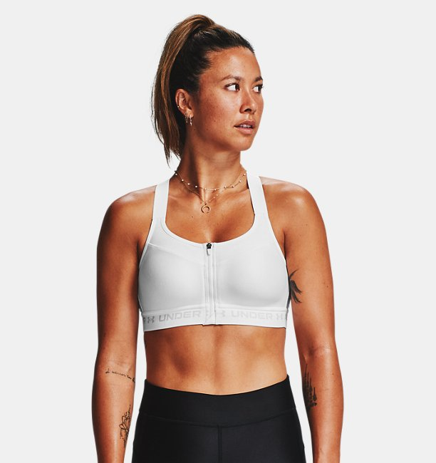 Womens Armour® High Crossback Zip Sports Bra