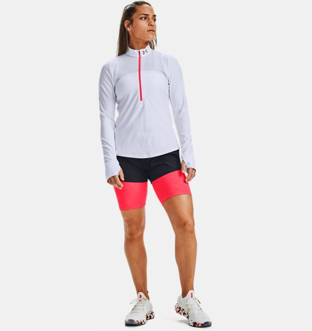 Womens UA Qualifier Run Upstream Camo ½ Zip