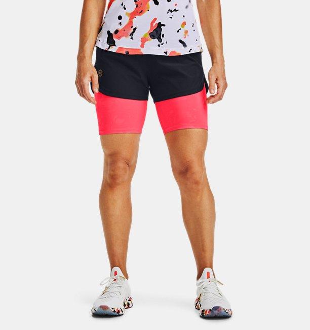 Womens UA RUSH™ Run Upstream Camo 2-in-1 Shorts