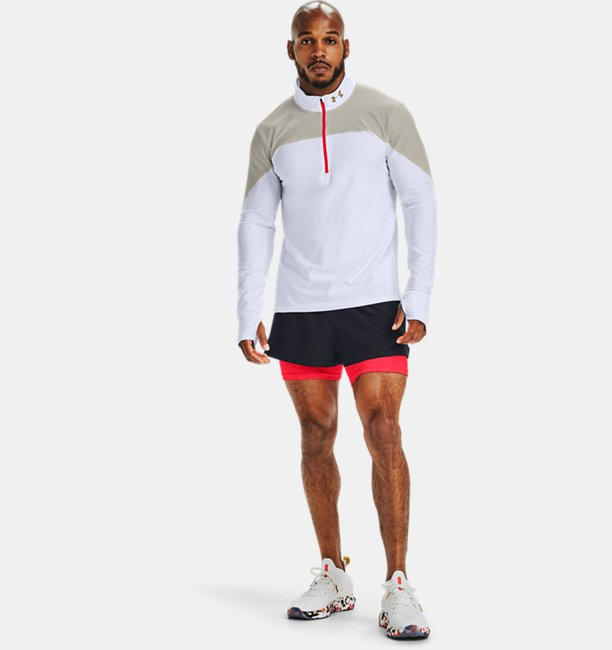 Mens UA Qualifier Run Upstream Camo ½ Zip