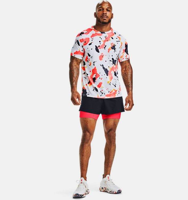 Shorts UA RUSH™ Run 2-in-1 Upstream Camo para Hombre