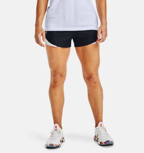 Womens UA Play Up 3.0 Upstream Camo Shorts