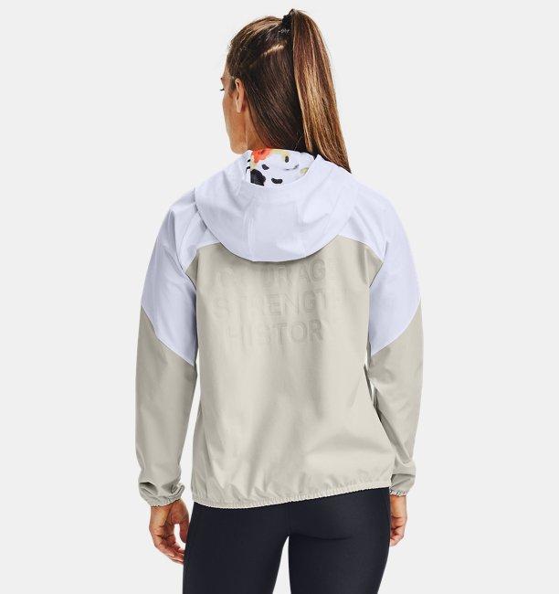 Womens UA Woven Upstream Camo Hooded Jacket