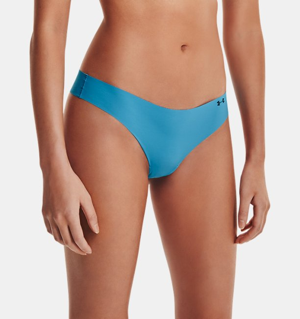 Womens UA Pure Stretch Print Thong 3-Pack Underwear