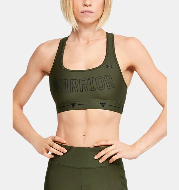 Womens Project Rock Armour® Mid Crossback Warrior Sports Bra