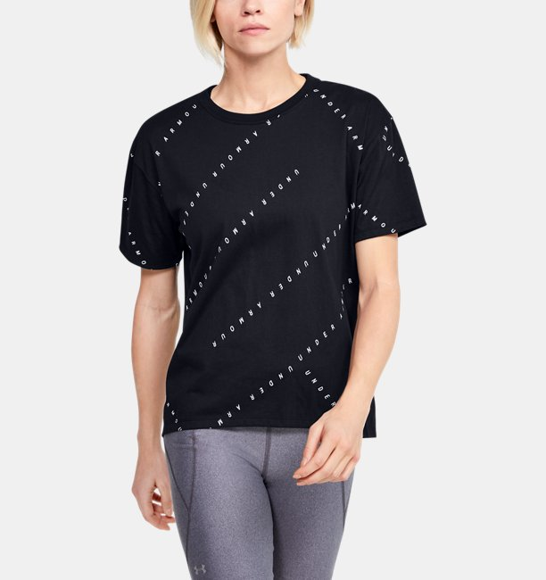 Womens UA Logo Print Short Sleeve