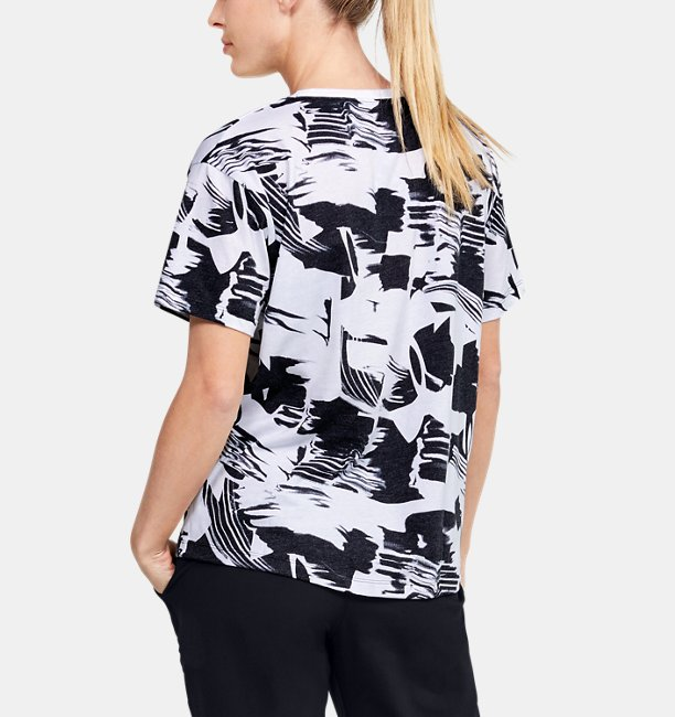 Womens UA Logo Print Short Sleeve
