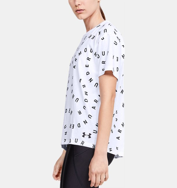 Womens UA Logo Print Live Short Sleeve