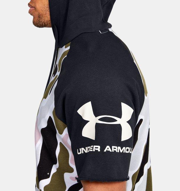UAライバルフリース カラーブロック ショートスリーブ フーディー カモ(トレーニング/MEN)