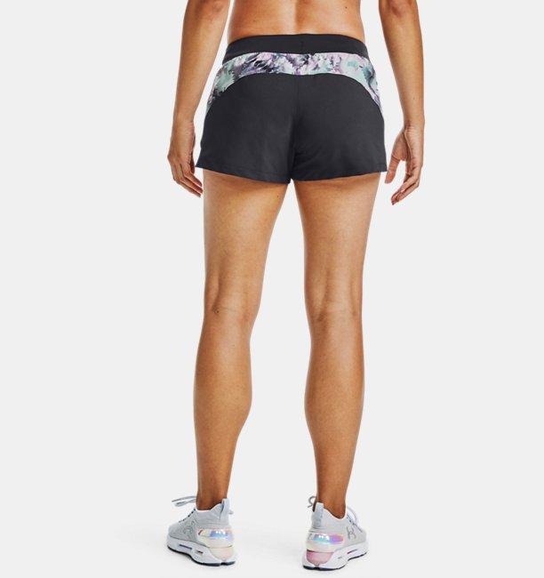 Womens UA Launch 3 Printed Shorts