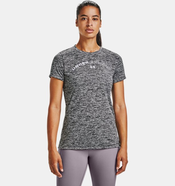 UAテック ツイスト グラフィック Tシャツ(トレーニング/WOMEN)