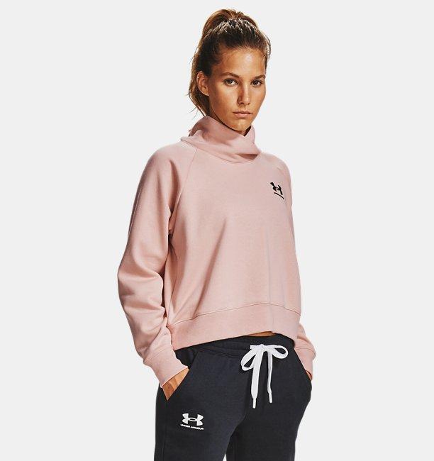 Womens UA Rival Fleece Wrap Neck