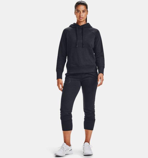 Damen UA Rival Fleece Metallic Jogginghose
