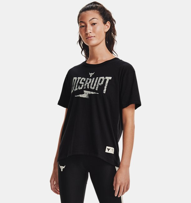 Playera Manga Corta Project Rock Disrupt para Mujer