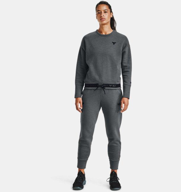 Womens Project Rock Charged Cotton® Fleece Crew