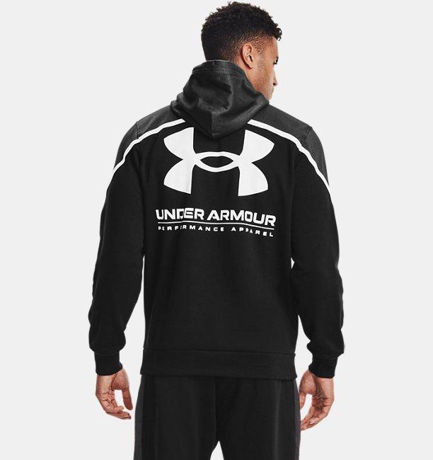 Mens UA Rival Fleece AMP Hoodie