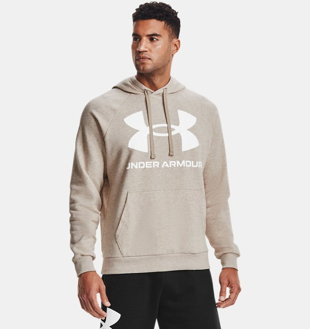 Mens UA Rival Fleece Big Logo Hoodie