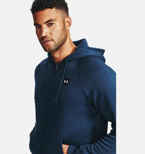 Mens UA Rival Fleece Full Zip Hoodie