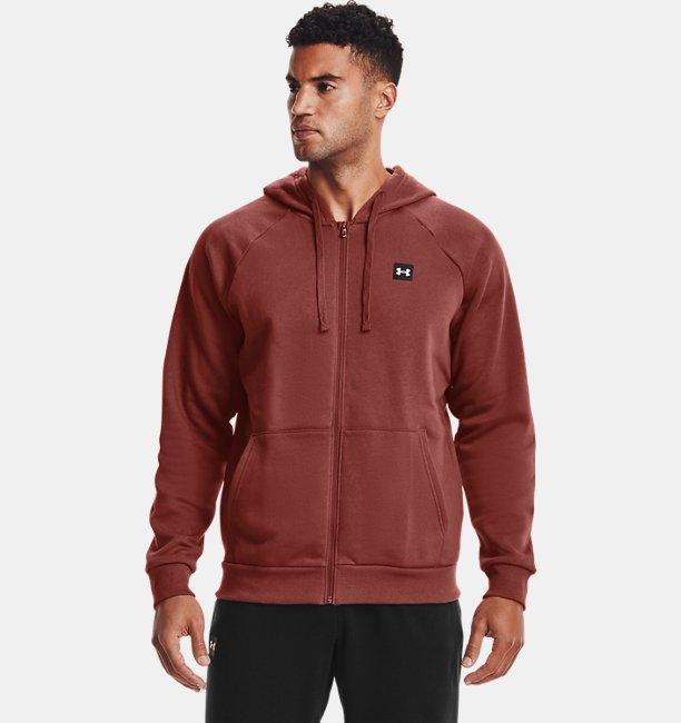 Mens UA Rival Fleece Full Zip Hoodie