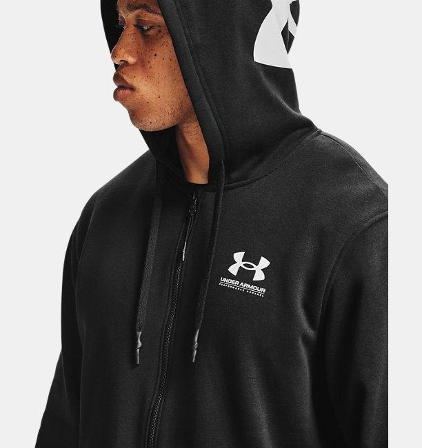 Mens UA Rival Fleece AMP Full Zip Hoodie