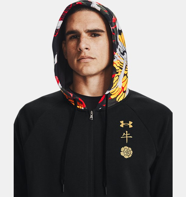 Mens UA Rival Fleece CNY Full Zip Hoodie