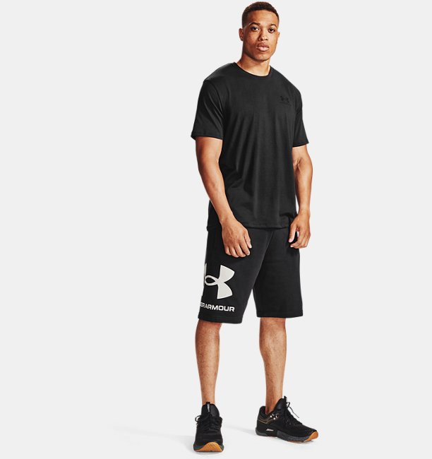Mens UA Rival Fleece Big Logo Shorts