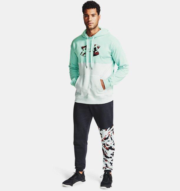 Pantalones de Entrenamiento UA Rival Fleece Camo para Hombre