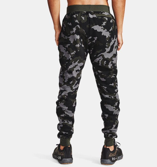 Mens UA Rival Fleece Camo Joggers