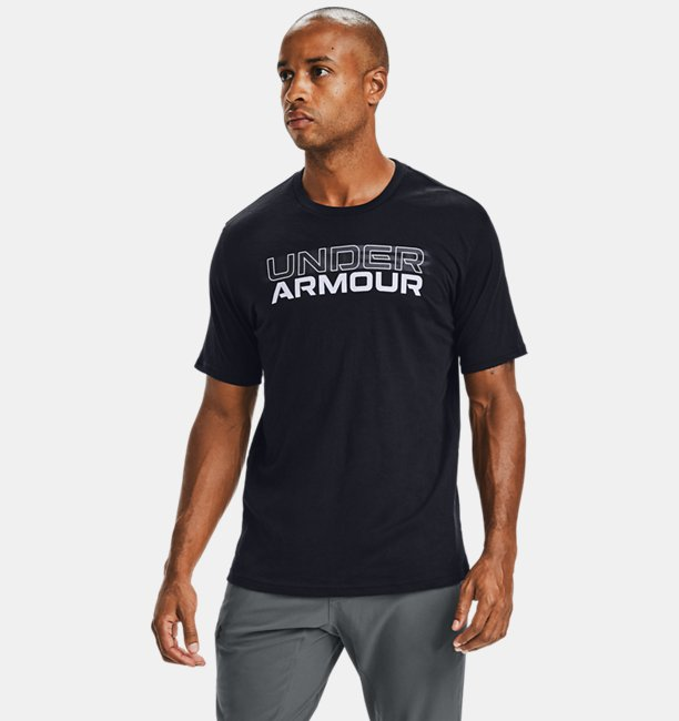 Mens UA Blurry Logo Wordmark Short Sleeve
