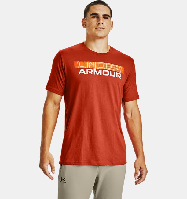 Mens UA Blurry Logo Wordmark Short Sleeve