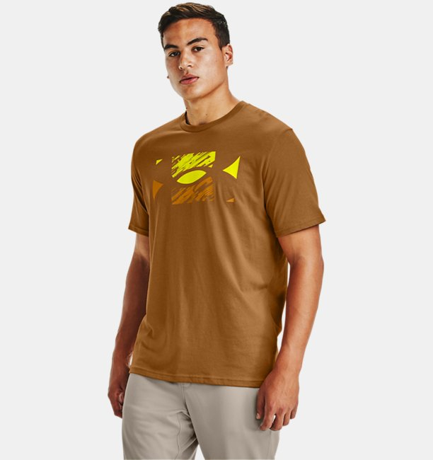 Mens UA Big Logo Sketch Short Sleeve