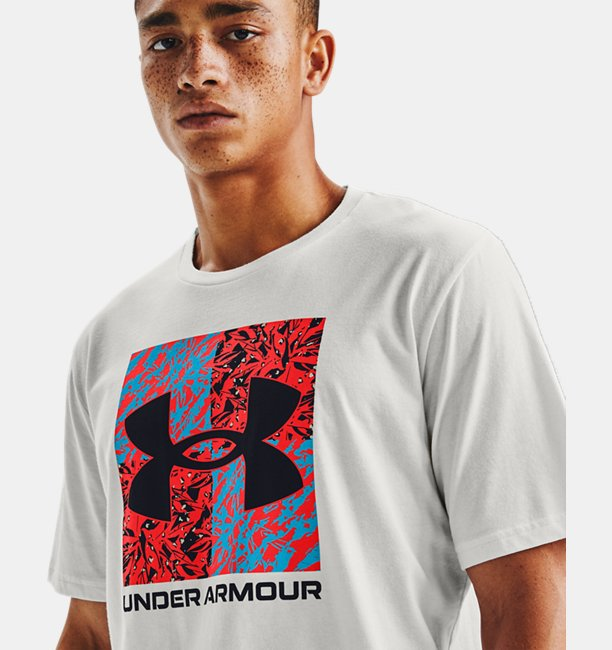 Mens UA Shattered Box Logo Short Sleeve