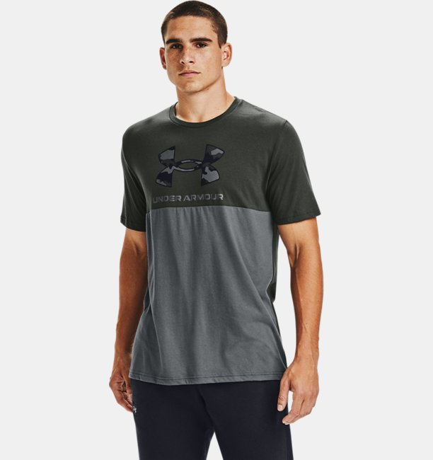 Mens UA Camo Big Logo Short Sleeve
